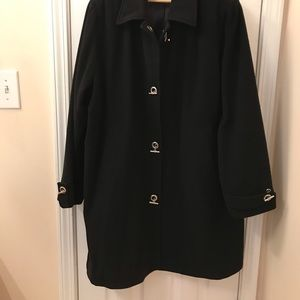 Woman's beautiful wool winter coat. Swing style
